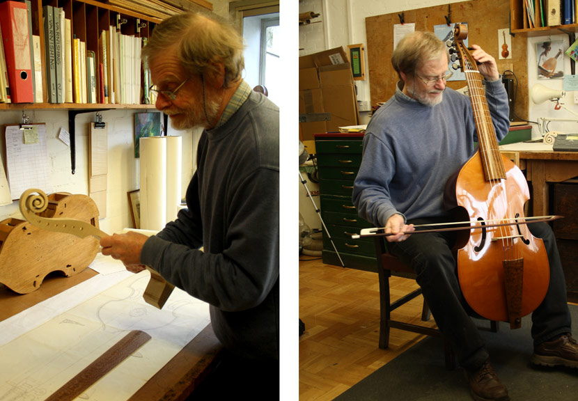 Building a Viola da Gamba and tuning